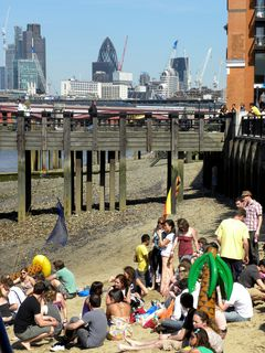 A day at the beach, in London