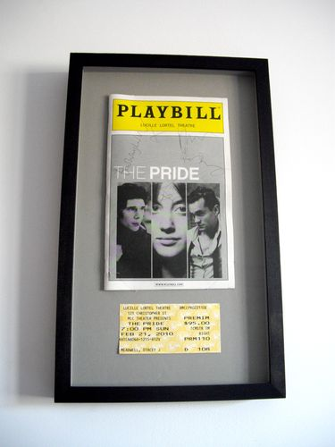 Treasured possession: Ben Whishaw and Pride cast signed playbill