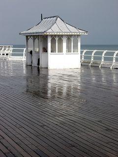 Cromer Pier after summer rain