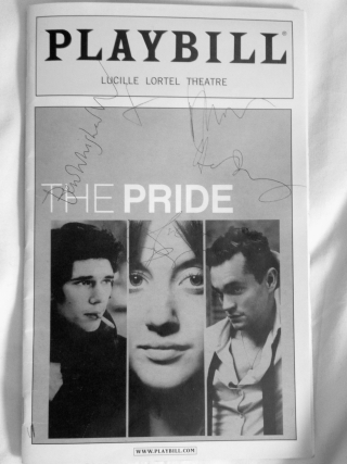 Signed by the cast, Playbill for The Pride, Lucille Lortel