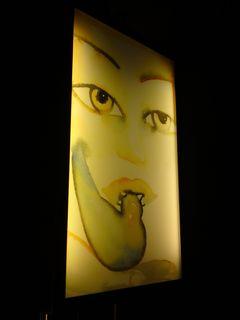 Bizarre bedside lamp