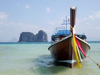 Koh Ngai long tail boat by Rev Stan