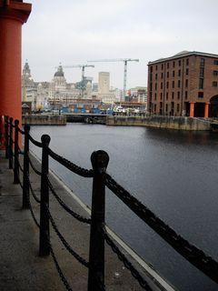 Albert Dock looking towards the Three Graces