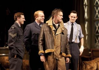 3-joe-armstrong-dusty-clive-wood-squadron-leader-swanson-mark-dexter-count-skriczevinsky-harry-hadden-paton-teddy-in-flare-path-at-the-theatre-royal-haymarket