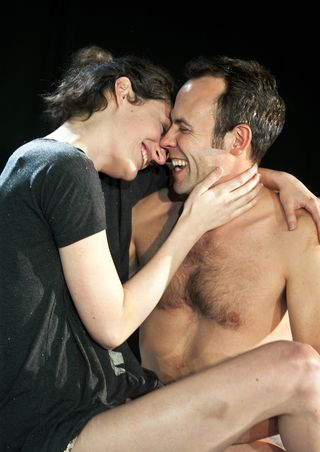 2Keir Charles and Phoebe Waller-Bridge in Mydidae, Soho Theatre, 5 December 2012 (courtesy of Simon Annand) 3
