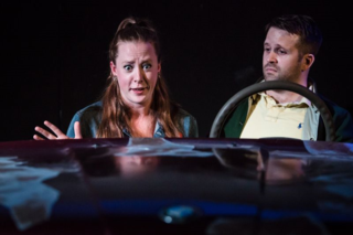 Zoe Swenson-Graham and Tom Slatter Sharon Maughan in Autobahn, King's Head Theatre 2 - (c) Scott Rylander