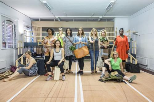 Bakkhai Rehearsals cast by Marc Brenner 2