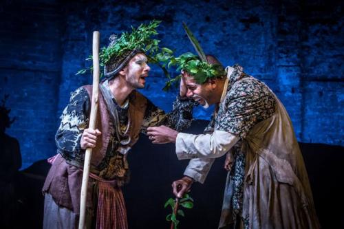 Ben Whishaw and Kevin Harvey in Bakkhai. Almeida Theatre. Credit Marc Brenner.jpg
