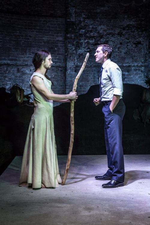 Ben Whishaw and Bertie Carvel in Bakkhai. Almeida Theatre. Credit Marc Brenner.jpg