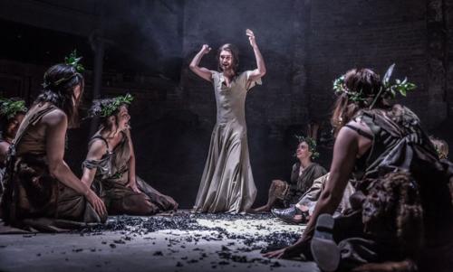 Ben Whishaw and cast of Bakkhai. Almeida Theatre. Credit Marc Brenner.jpg