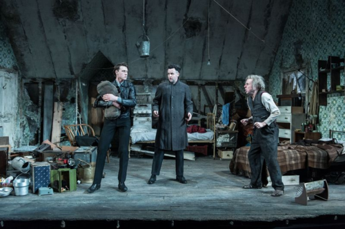 Daniel Mays (Aston), Timothy Spall (Davies), George MacKay (Mick) in The Caretaker at The Old Vic. Photo by Manuel Harlan. (2)