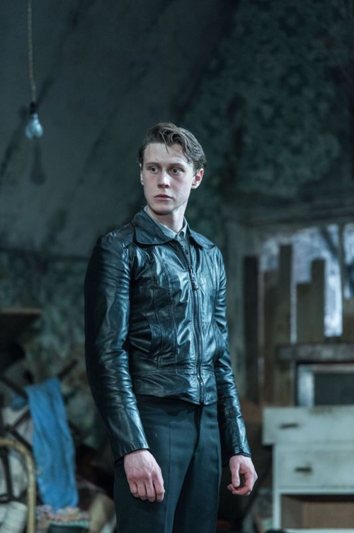 George MacKay (Mick) in The Caretaker at The Old Vic. Photo by Manuel Harlan. (4)