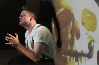 Jamie Hutchins as Hamlet in Gertrude at Theatre N16 (c) Roy Tan