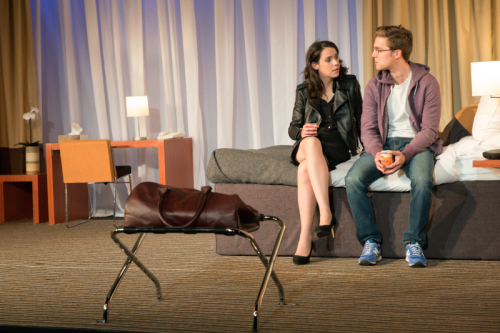 Caoilfhionn Dunne (Woman) and Jack Farthing (Andrew) in Wild at Hampstead Theatre. Photo by Stephen Cummiskey (6)