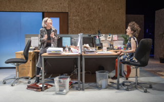 Kae Alexander and Ellie Kendrick in Gloria at Hampstead Theatre  photo by Marc Brenner (1)