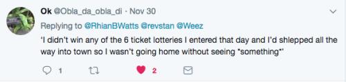 Tweet had to see something