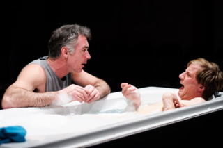 Kill Me Now at Park Theatre. Greg Wise (Jake) and Oliver Gomm (Joey). Photo credit - Alex Brenner.  (2)