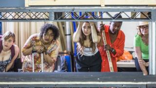 Bakkhai Rehearsals cast by Marc Brenner