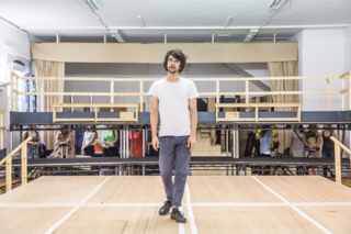 Bakkhai Rehearsals Ben Whishaw and cast by Marc Brenner