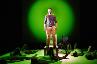Phil Dunster in Pink Mist at Bristol Old Vic. Photo by Mark Douet.JPG