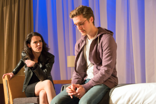 Caoilfhionn Dunne (Woman) and Jack Farthing (Andrew) in Wild at Hampstead Theatre. Photo by Stephen Cummiskey (1)