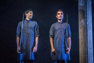 Darren Kuppan and Danny Ashok in Guards at the Taj at the Bush Theatre. Credit Marc Brenner.