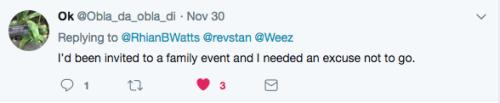 Tweet needed an excuse