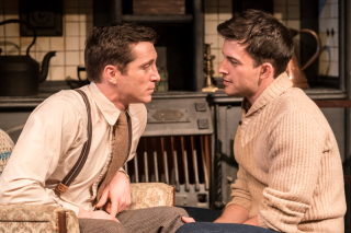 Ben Batt (George) and Jonathan Bailey (John)  in The York Realist at the Donmar Warehouse  directed by Robert Hastie. Photo by Johan Persson