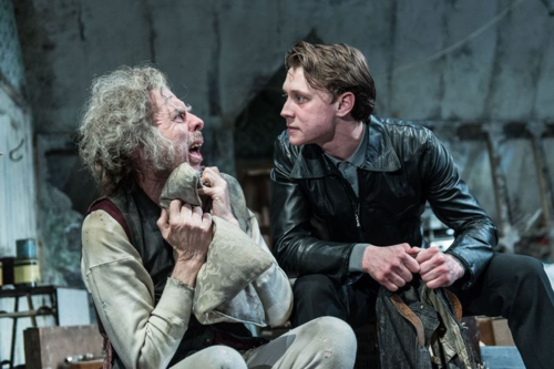 Timothy Spall (Davies), George MacKay (Mick) in The Caretaker at The Old Vic. Photo by Manuel Harlan. (2)