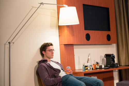 Jack Farthing (Andrew) in Wild at Hampstead Theatre. Photo by Stephen Cummiskey (4)