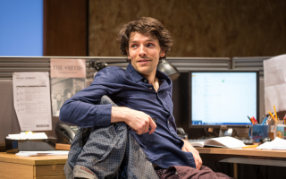 Colin Morgan in Gloria at Hampstead Theatre  photo by Marc Brenner (1)