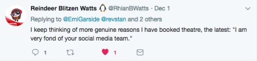Tweet liked social media team