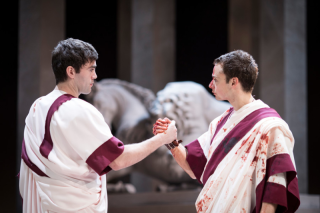 Julius Caesar_ 2017_ Mark Antony and Brutus_2017_Photo by Helen Maybanks _c_ RSC_214285 James Corrigan Alex Waldmann