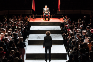 David Calder (Caesar) - Julius Caesar at the Bridge Theatre - Photographer credit Manuel Harlan
