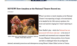 Review: Amadeus National Theatre screen shot