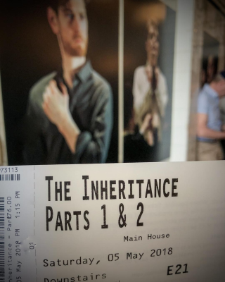 The Inheritance ticket and poster Young Vic