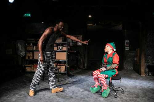 L - R Michael Salami and Dan Starkey star in The Night Before Christmas at Southwark Playhouse - credit Darren Bell
