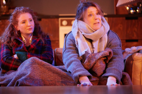 Dorothea Myer-Bennett & Julia Swift (L-R) in Rosenbaum's Rescue at Park Theatre. Photo by Mark Douet C31B8746