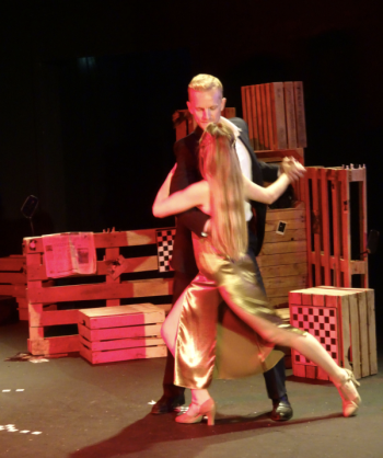 AX The Peregrine Paul (Christopher Sherwood) and Sofia (Katie Buchholtz) dance the tango