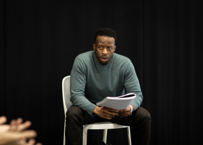 Clifford Samuel (Teddy) in Rehearsals for A Guide For The Homesick - (c) Helen Maybanks_21
