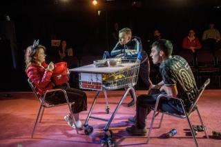 Cuckoo  Soho Theatre (Courtesy of David Gill) (8) Caitriona Ennis  Colin Campbell and Peter Newington