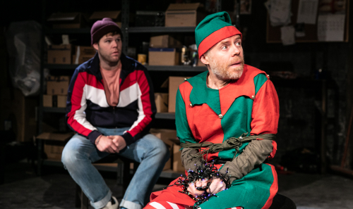 L -R Douggie McMeekin and Dan Starkey star in The Night Before Christmas at Southwark Playhouse - credit Darren Bell