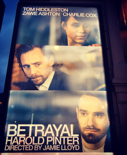 Tom hiddleston charlie cox zawe ashton betrayal poster