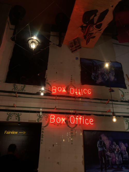 Neon box office sign