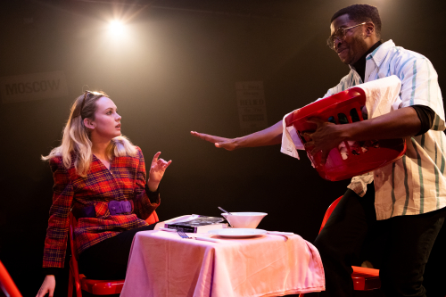Meaghan Martin and Adrian Richards in The Actor's Nightmare. Photo credit - Ali Wright