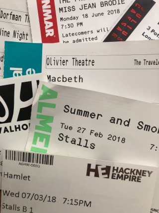 Various theatre tickets