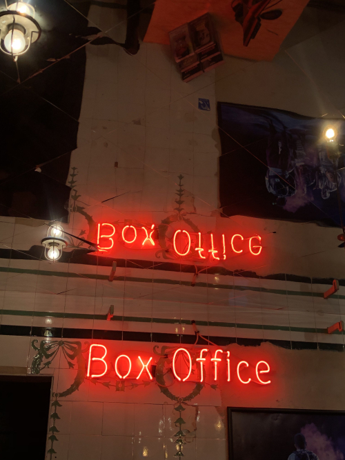 Box Office sign Young Vic