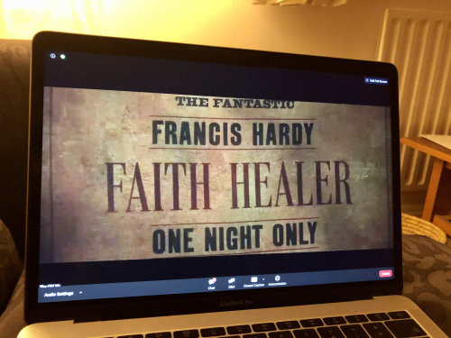 Faith Healer poster old vic in camera