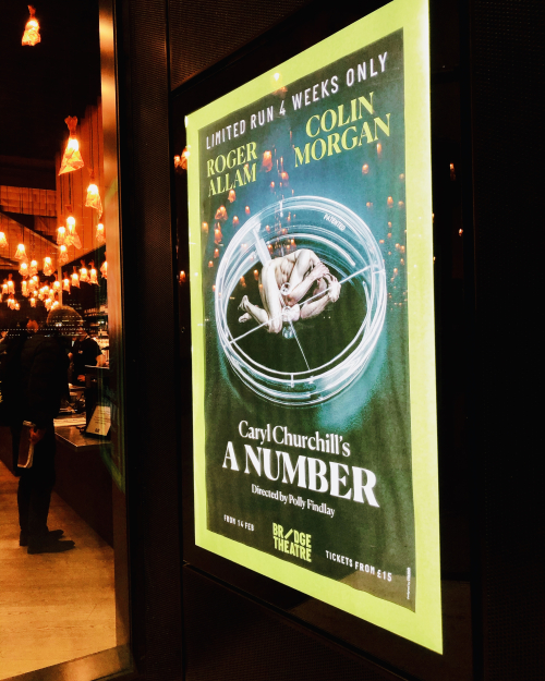 Bridge Theatre A Number Poster