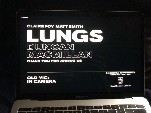 Lungs Old Vic on screen